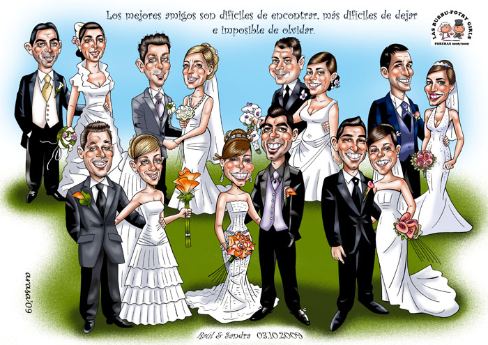Caricatura de Grupo Sandra