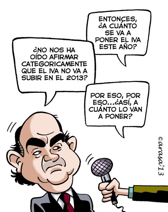Caricatura de El IVA no subirá en el 2013