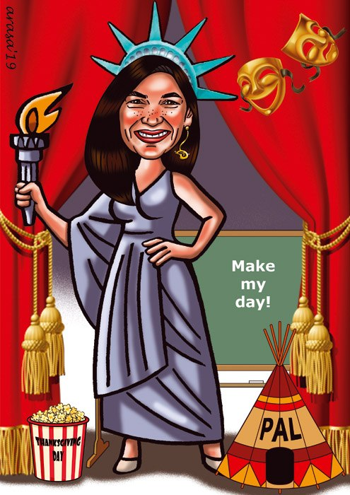 Caricatura digital personalizada para María José