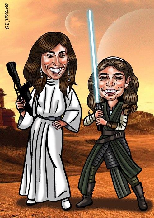 Caricatura digital personalizada para María