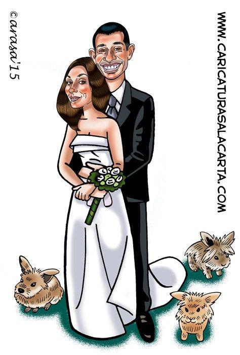 Caricatura de Sonia y Alex