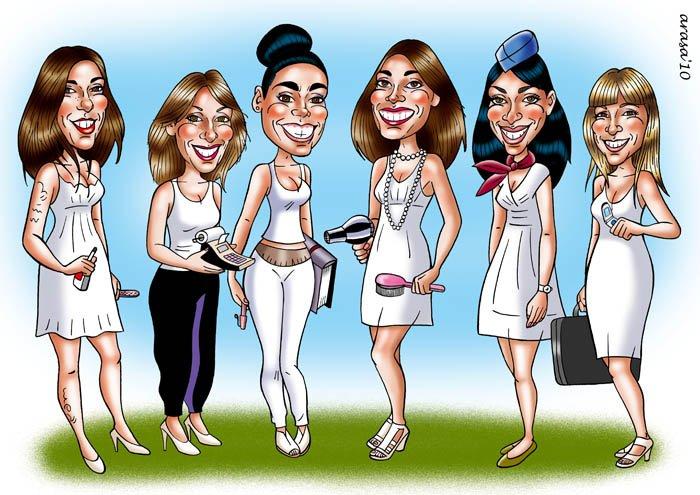 Caricatura de Grupo Patricia