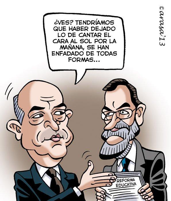 Caricatura de Reforma educativa
