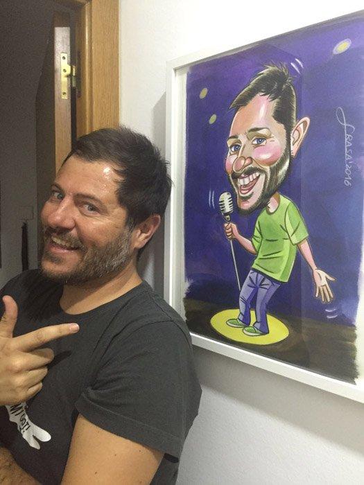 Caricatura de Xavier Castells