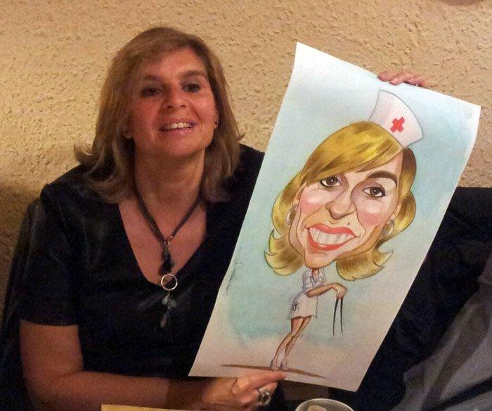 Caricatura de Natalia y Paqui