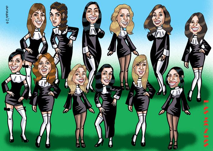 Caricatura de grupo Silvia