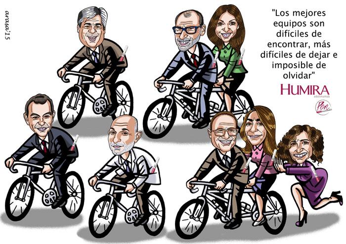 Caricatura de grupo para Meritxell