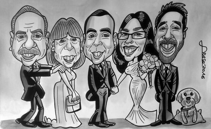 Caricatura de grupo para Alazne