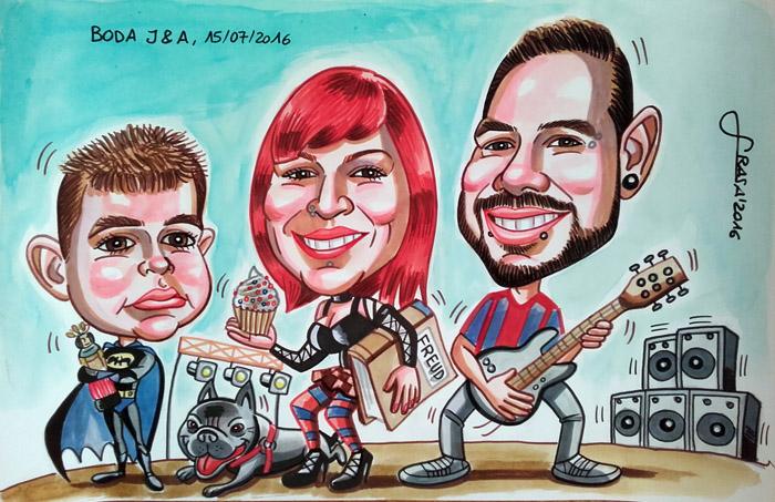 Caricatura de grupo para Ali