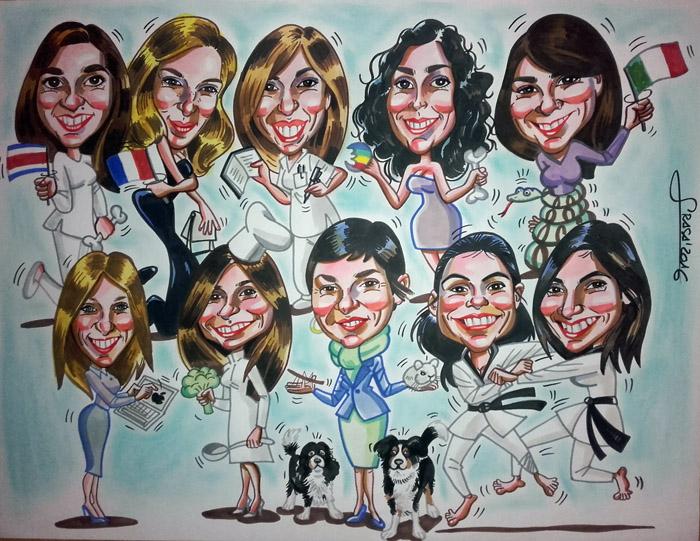 Caricatura de grupo para Patri