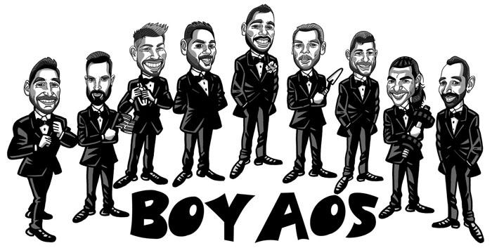 Caricatura de grupo Álvaro