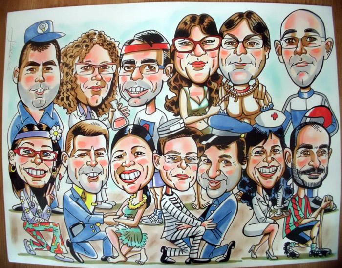 Caricatura de grupo Xavi