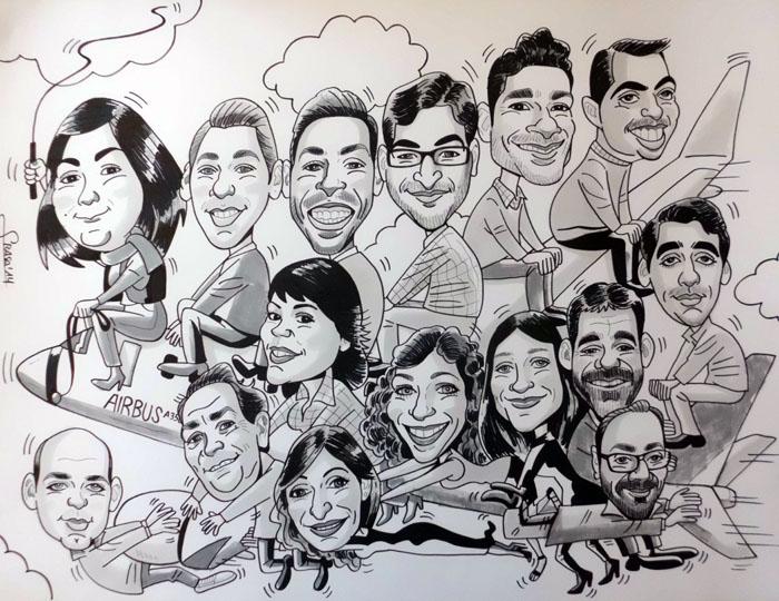 Caricatura de grupo Pedro