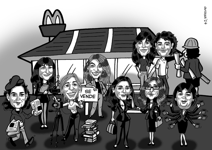 Caricatura de grupo Laura