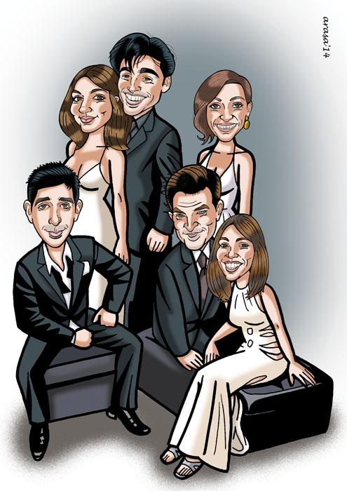 Caricatura de grupo Seila