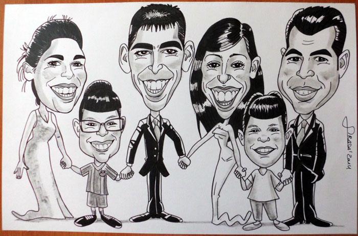 Caricatura de grupo Xènia