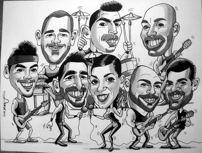 Caricatura de grupo David