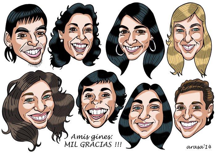 Caricatura de grupo Noelia