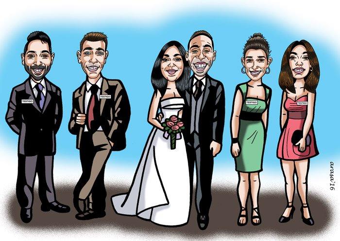Caricatura de grupo para Alejandro