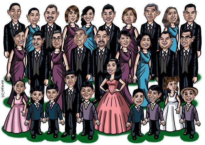 Caricatura de grupo para Edith