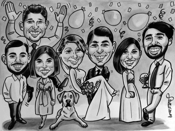 Caricaturas personalizadas de grupo para regalos originales y divertidos: Carmen