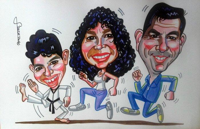 Caricatura de grupo para Bibi