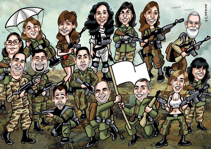 Caricatura de grupo para David