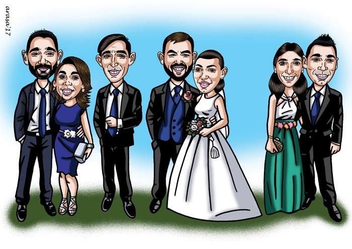Caricatura de grupo para Francisco