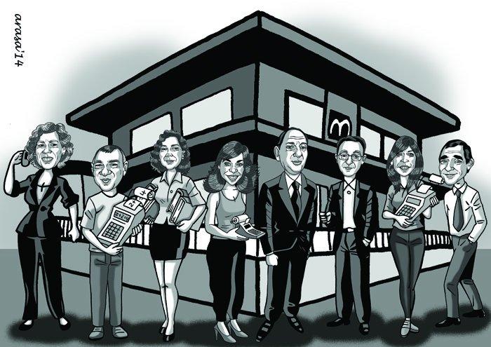 Caricatura de grupo Marta