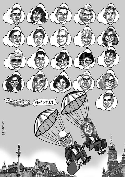 Caricatura de grupo Mon