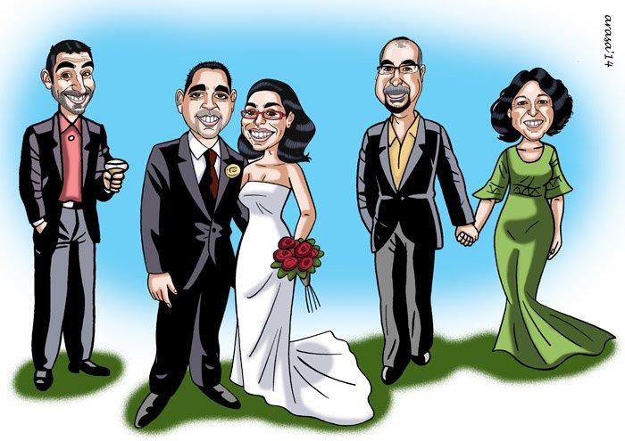Caricatura de grupo Marina