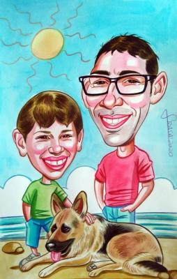 Caricaturas personalizadas online para regalos personalizados originales y divertidos para particulares (Estitxu)