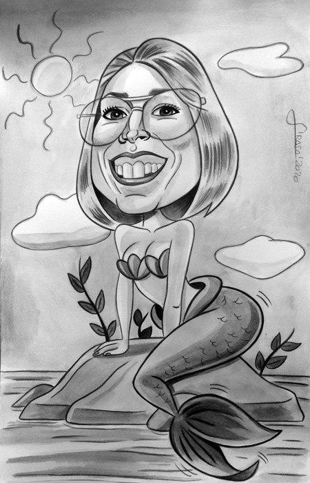 Caricaturas personalizadas para regalos originales (Silvia)