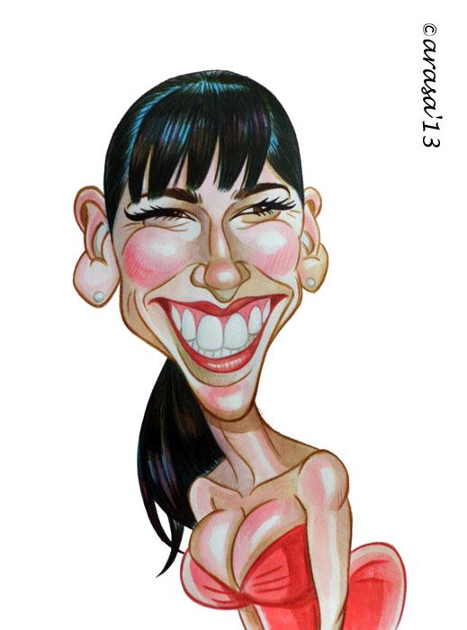 Caricatura de Jennifer Lowe Hewitt