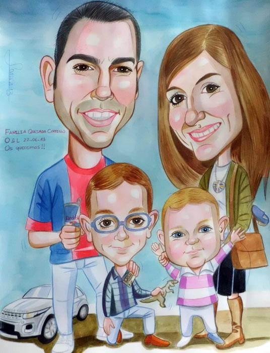 Caricatura de Lourdes