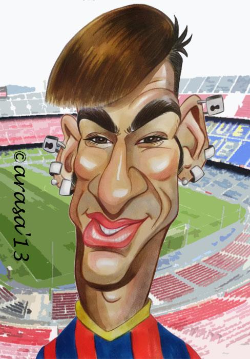 Caricatura de Neymar