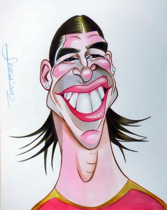 Caricatura de Sergio Ramos