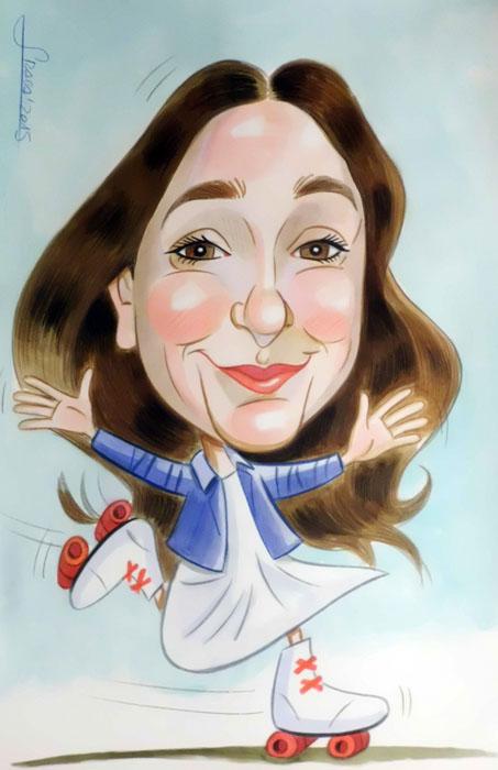 Caricatura para Natalia