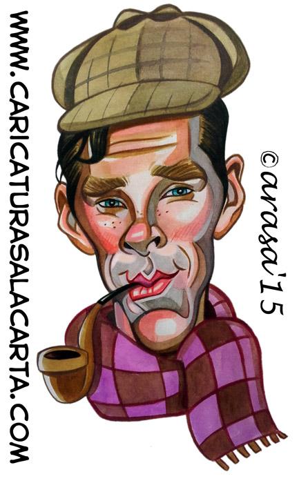 Caricaturas de famosos: Benedict Cumberbatch (Sherlock)