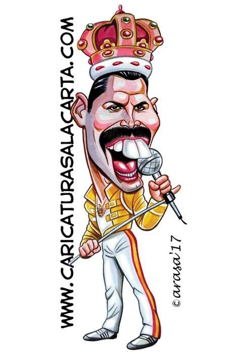 Caricaturas de famosos cantantes: Freddie Mercury