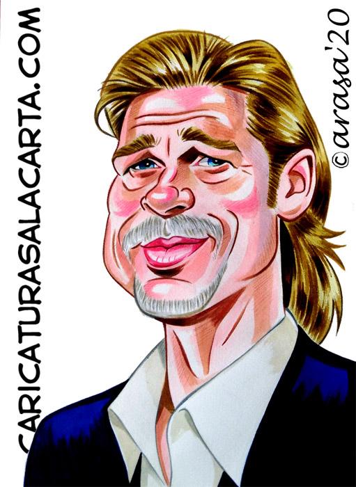 Caricaturas de famosos: Brad Pitt