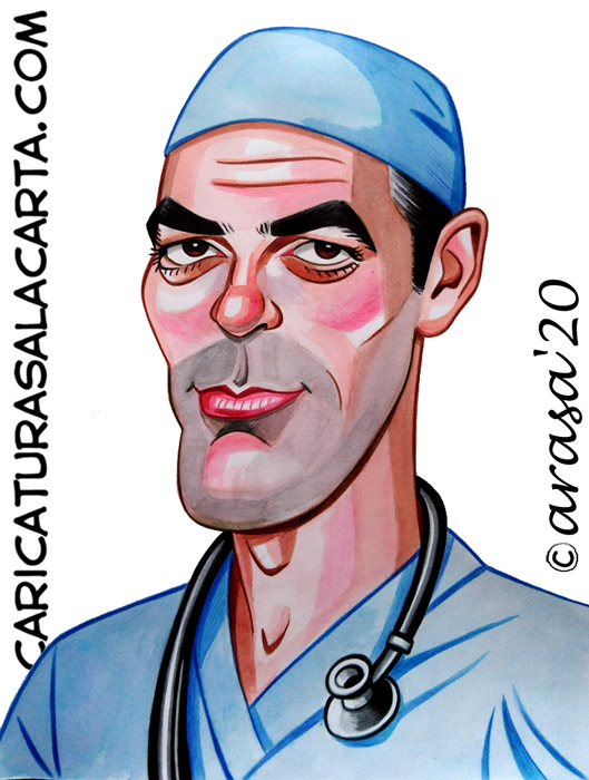 Caricaturas de famosos: George Clooney
