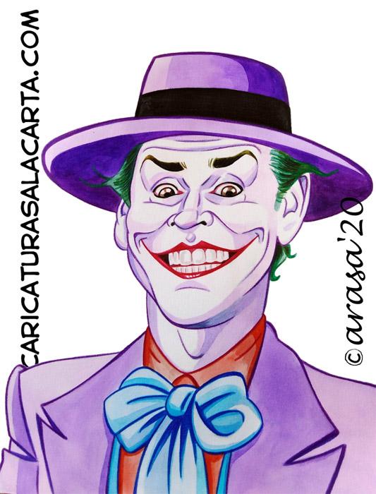 Caricaturas de famosos: Jack Nicholson como Joker en Batman