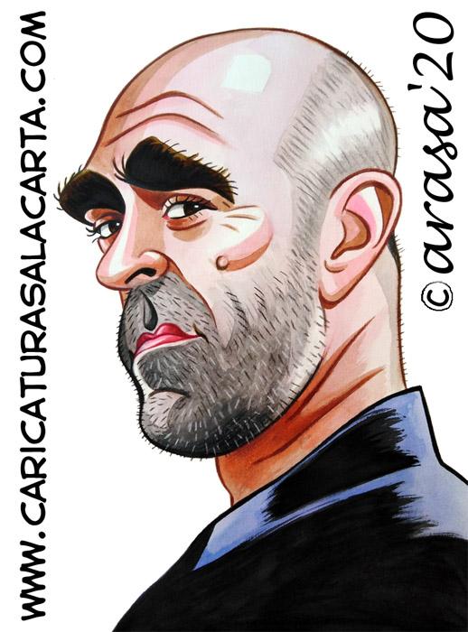 Caricaturas de famosos: Luis Tosar