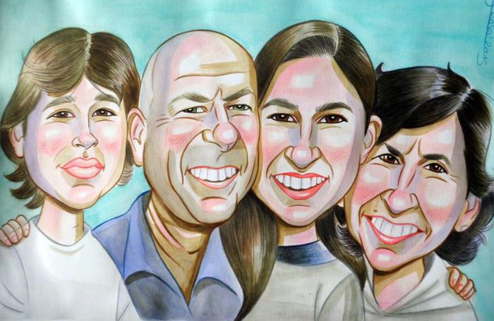 Caricatura personalizada para Juana