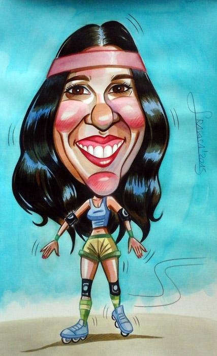 Caricaturas personalizadas para particulares: Sonia