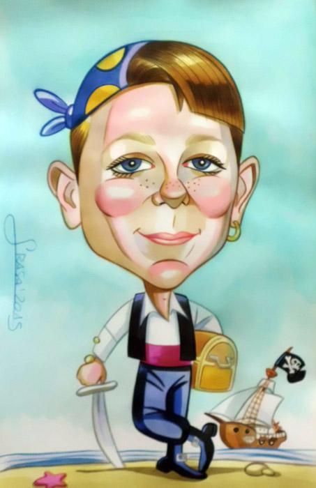 Caricaturas personalizadas para particulares: Victor