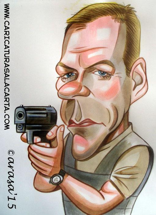 Caricatura de Kiefer Sutherland