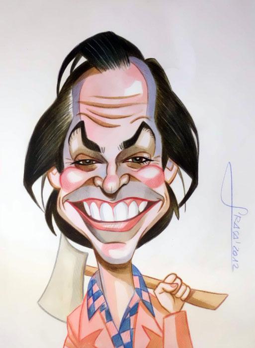Caricatura de Jack Nicholson