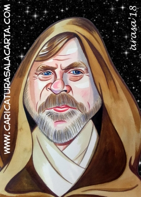Caricatura Mark Hamill Star Wars